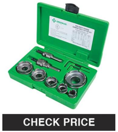 Greenlee Quick Change Carbide Cutter Set