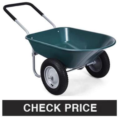 Dual-Wheel Wheelbarrow Cart