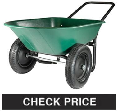 Marathon Yard Rover – 2 Tire Wheelbarrow Garden Cart