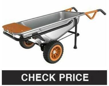 Worx Aerocart Multifunction 2-Wheeled Wheelbarrow