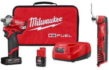 Milwaukee M12 Fuel Stubby Cordless 1/2-Inch Impact Wrench Kit 2555-22