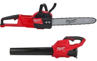 Milwaukee M18 FUEL 16 in. 18-Volt Lithium-Ion Brushless Cordless Chainsaw and Blower Combo Kit (2-Tool)