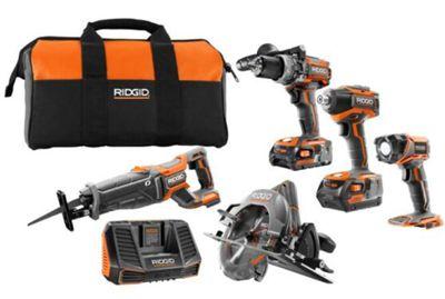 Ridgid R9652 18V cordless 5-Tool Kit