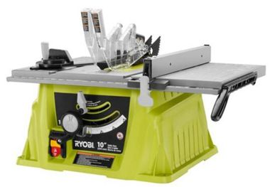 Ryobi Table Saw with folding and rolling stand,15 Amp, 10-inch blade